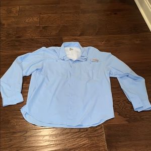 Columbia PFG Light Blue Long Sleeve, Medium